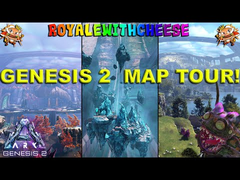 Ark Genesis 2 Full Map Tour And Creature Locations! - Ark: Survival Evolved Genesis 2 DLC