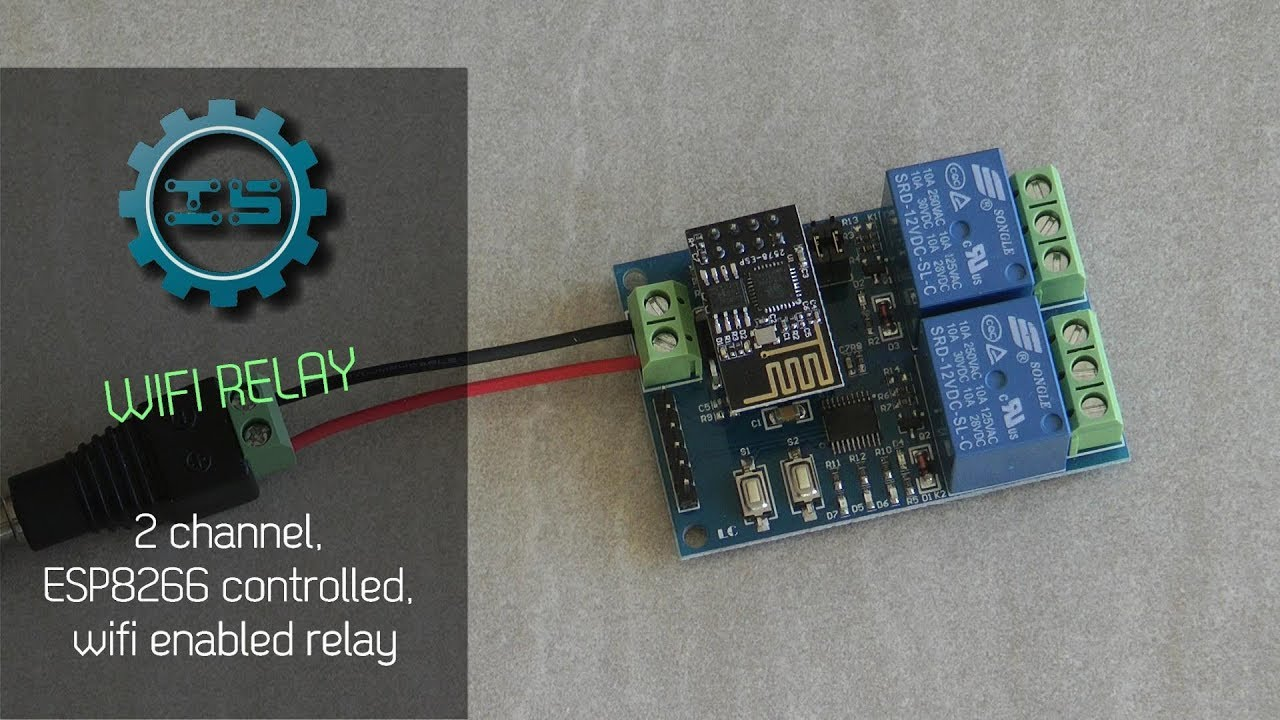 Esp8266 Wifi Relay Review Youtube