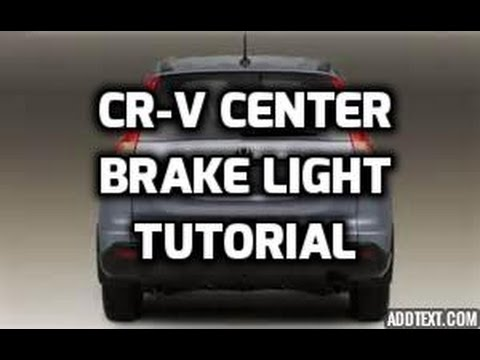 honda cr  center brake stop light tutorial youtube