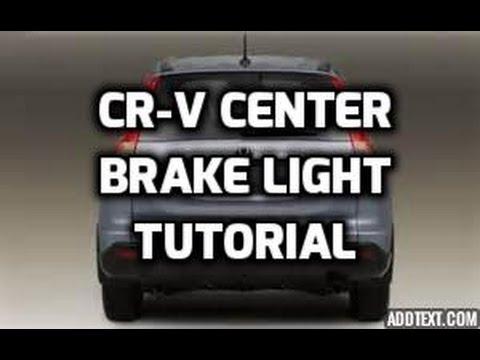 2008 Civic Interior Wiring Diagram Honda Cr V Center Brake Stop Light Tutorial Youtube