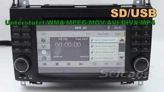 7 Zoll Doppel Din Radio Navi dvd Mercedes Vito 639 Rückfahrkamera anschluss CD MP3