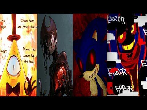 Stronger Than You Bill Cipher Vs Bendy Vs Sonic.EXE Vs ERROR Sans Duet