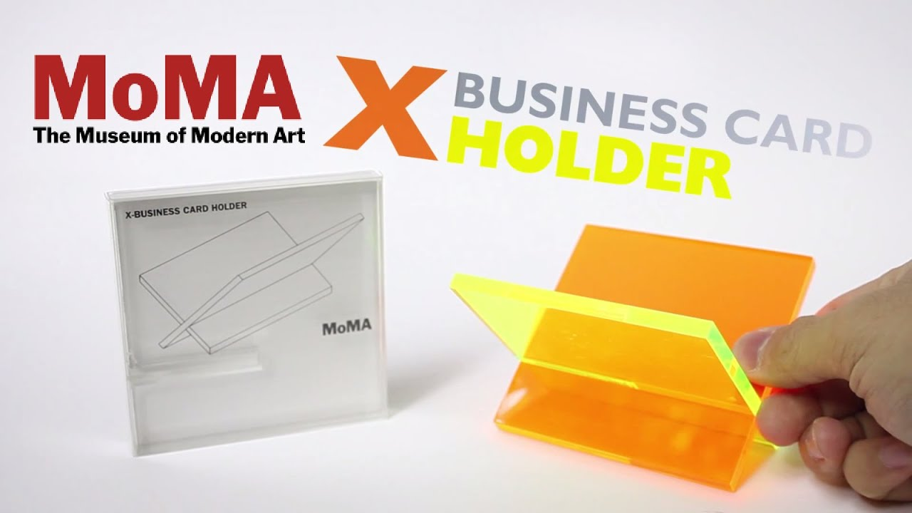 Moma Simplest Business Card Holder Ever? - YouTube