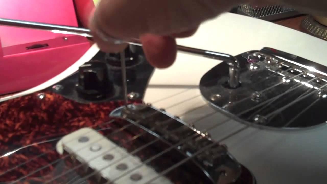 squier fender jaguar bridge buzz set up youtube rh youtube com Fender Bronco Fender Telecaster