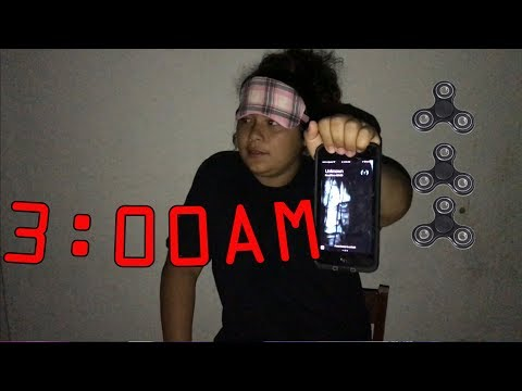 DO NOT SPIN A FIDGET SPINNER AT 3AM!! OMG SO SCARY!! PRANK ON MARY!!!