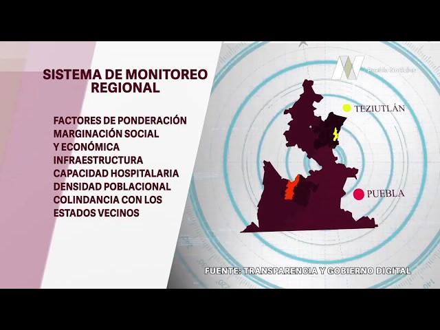 Gobierno de Puebla anuncia inicio del Sistema de Monitoreo Regional de Puebla.