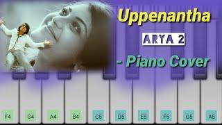 Uppenantha Ee Premaki - ( Piano Cover ) Arya-2 | Allu Arjun , Kajal , Dsp | Telugu Piano
