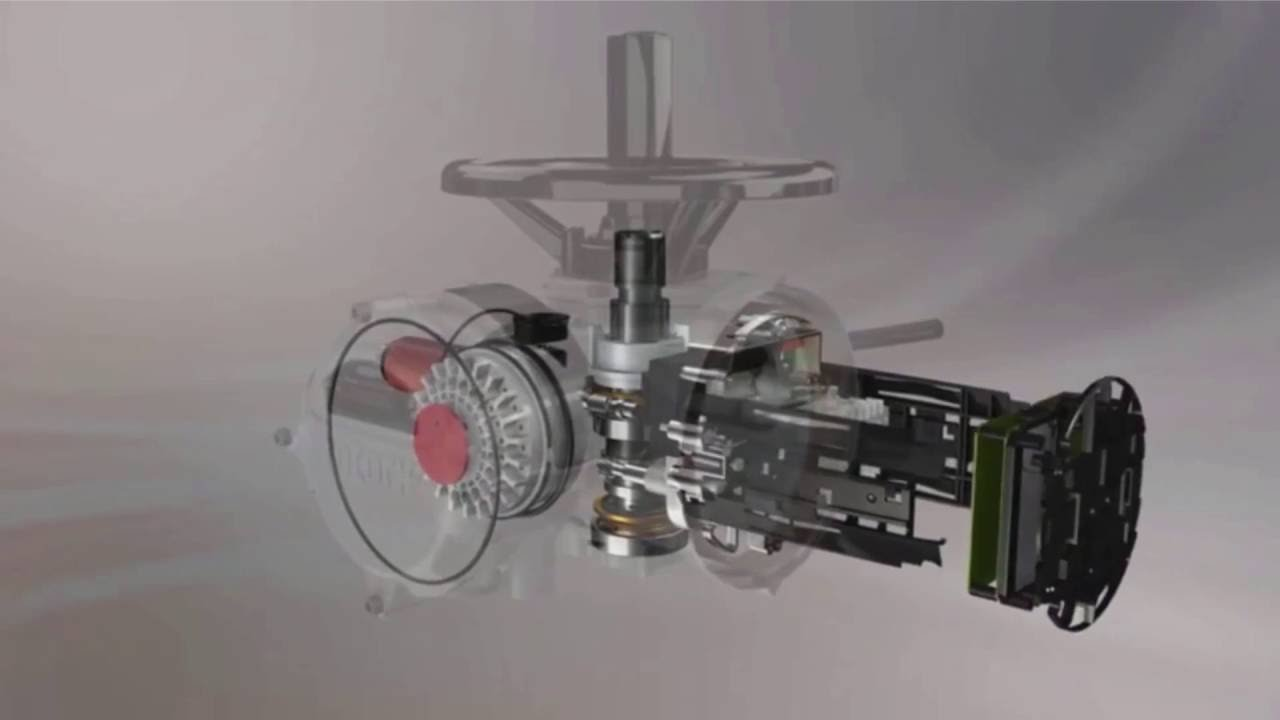Rotork IQ3 Electric Actuator Inner Workings
