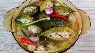 Cách nấu CANH KHỔ QUA HẦM vị đắng mà ngon khó tin - Món Ăn Ngon