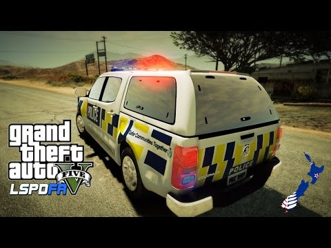 GTA 5 - LSPDFR New Zealand - First Kiwi Patrol! (Play GTA V as a cop mod for PC)