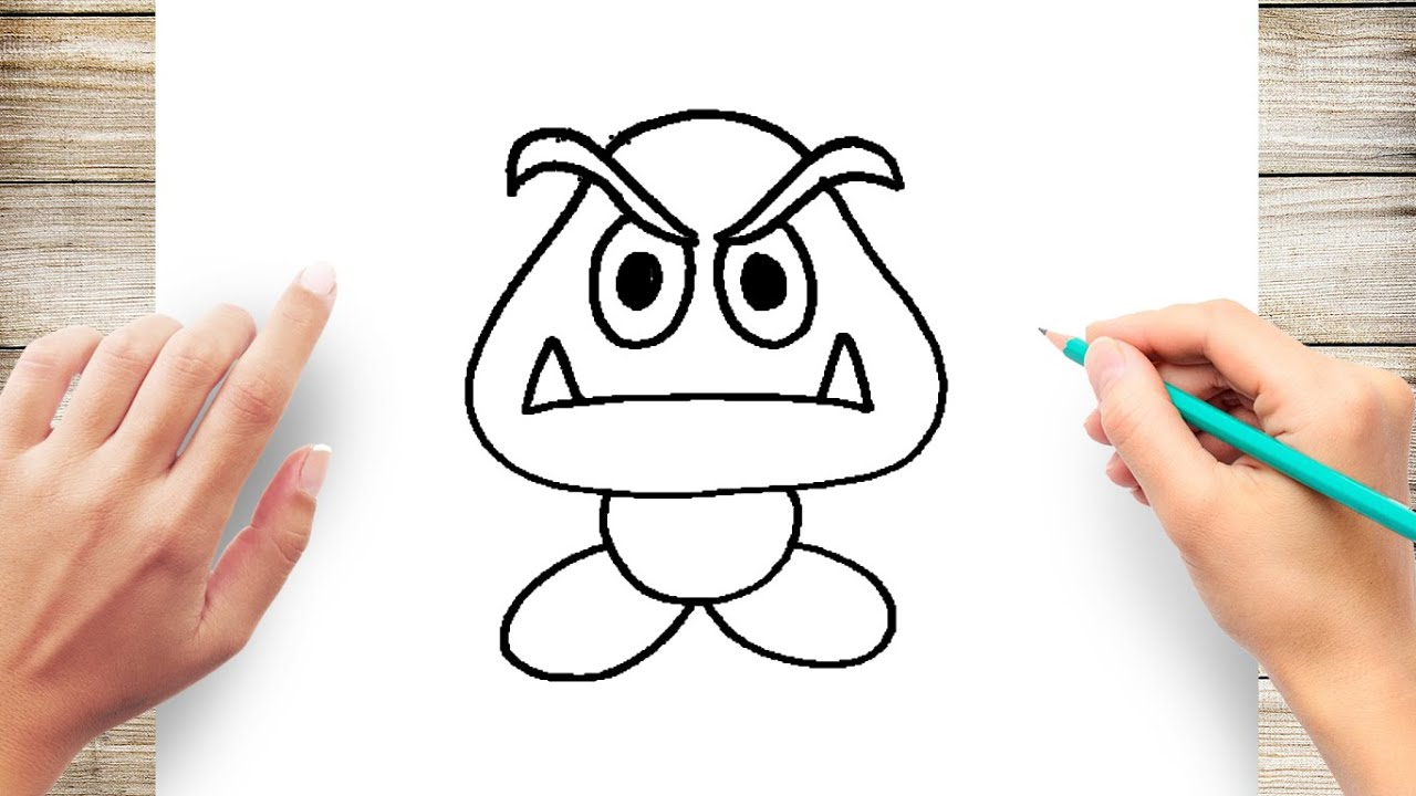 How To Draw Mario Characters Step By Step For Kids Youtube
