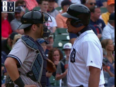 Miguel Cabrera vs Austin Romine | New York Yankees vs Detroit Tigers