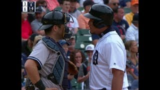 Miguel Cabrera vs Austin Romine | New York Yankees vs Detroit Tigers