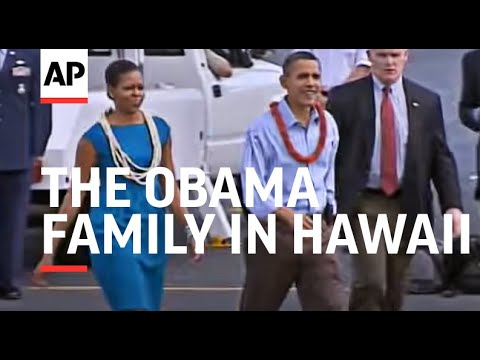 The Obama family has arrived in Hawaii for a holiday vacation in the state where President Barack Ob