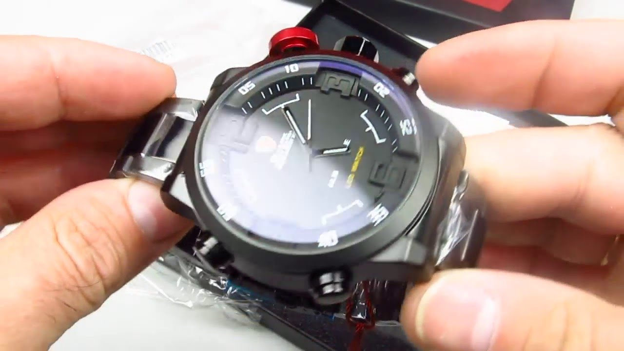 91e6f4482f66 SHARK LED Digital Date Day Alarm Black Military Quartz Men Sport Watch