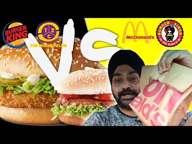 Best BURGER 🍔 comparison | No 1 Burger in Delhi | Food Comparison Vlog