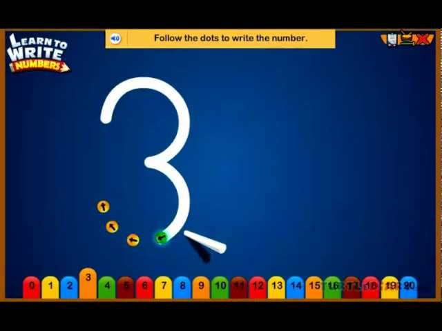 Learn To Write Numbers Preschool Number Writing Game - YouTube