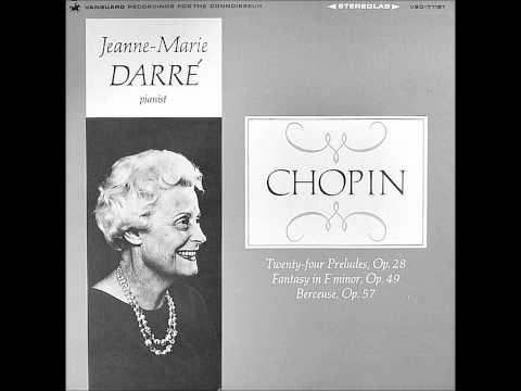 JEANNE-MARIE DARRE plays CHOPIN 24 Préludes Op.28 (1965)