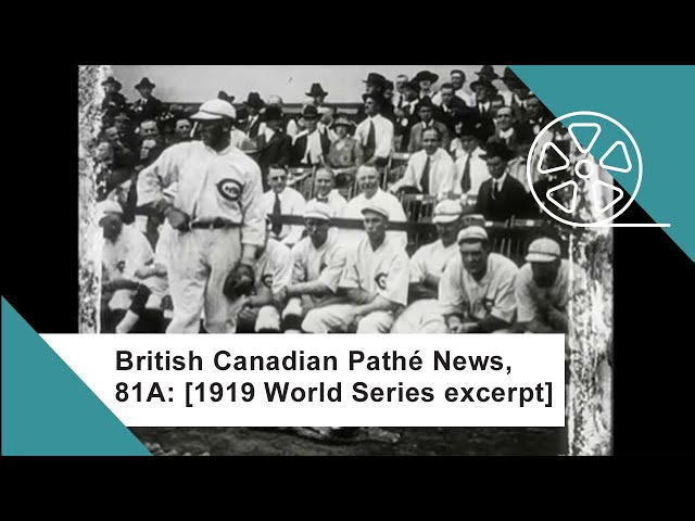 watch rare footage of the black sox throwing the world series