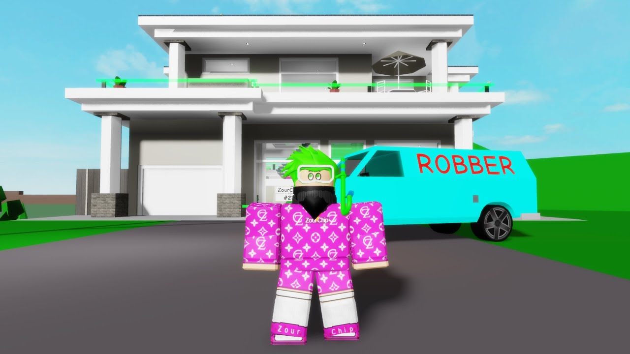 ROBBING HOUSES IN BROOKHAVEN! (Roblox)