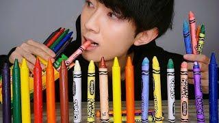 (ENG SUB) 먹는 크레파스 리얼사운드 먹방 ASMR DIY Edible Crayons School Supplies Social EATING SOUNDS Mukbang Show