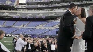 Super Bowl Weddings: Lovers Unite Football Style