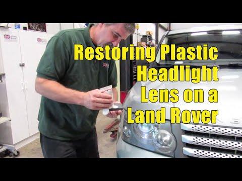Atlantic British Presents: Restoring Land Rover Plastic Headlight Lens