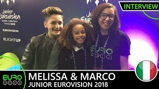 ITALY: Melissa & Marco - What Is Love (INTERVIEW) | Junior Eurovision 2018