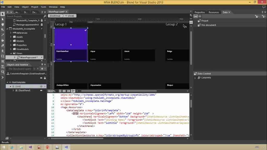 Designing Your XAML UI with Blend, 05, Building Windows Store Apps