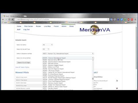 MeridianVA Finding Flight Schedules Routes