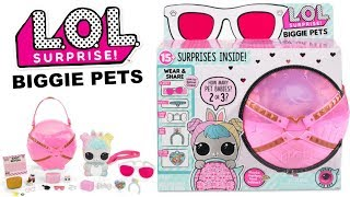 LOL Surprise BIGGIE PETS | L.O.L. Series 4 Eye Spy Decoder Biggie Pets Sneak Peek First Look