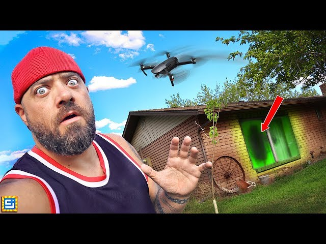 WE HAD TO ESCAPE THE MYSTERY HACKER DRONE AT THE NEIGHBOR'S HOUSE!
