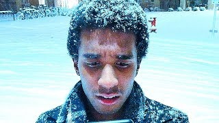 An Afro Made Of Snow