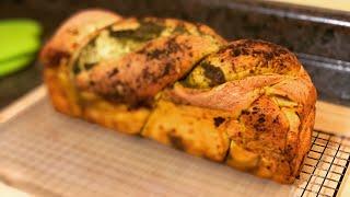 Pesto Twist Bread ~ A Savory Bread