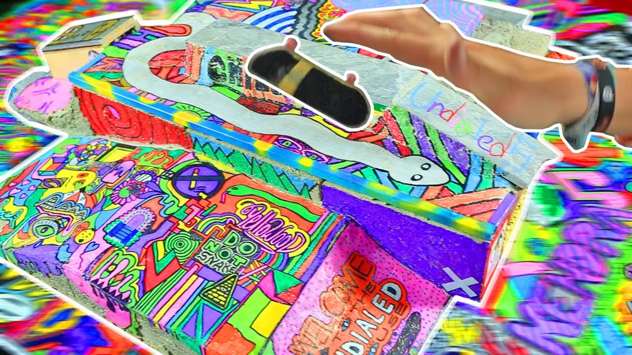 Worlds Most Colorful Diy Fingerboard Skate Park Youtube