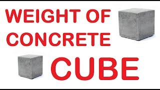 How to calculate concrete cube weight in KG by Learning Technology