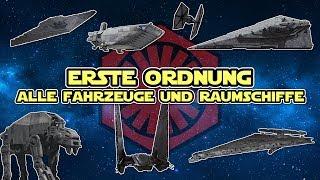 Star Wars: Alle Fahrzeuge und Raumschiffe der ERSTEN ORDNUNG [CANON]