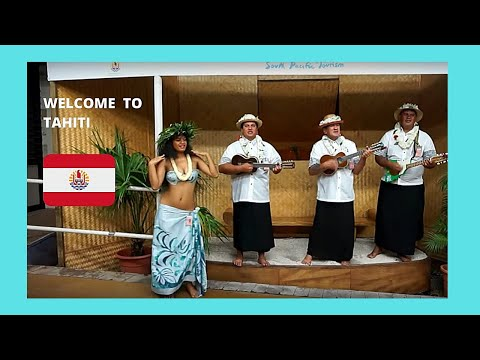 TAHITI, welcoming ceremony at the Fa'a'a International Airport
