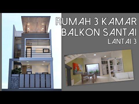 Rumah 3 kamar lahan 6x12m dengan balkon lantai 3