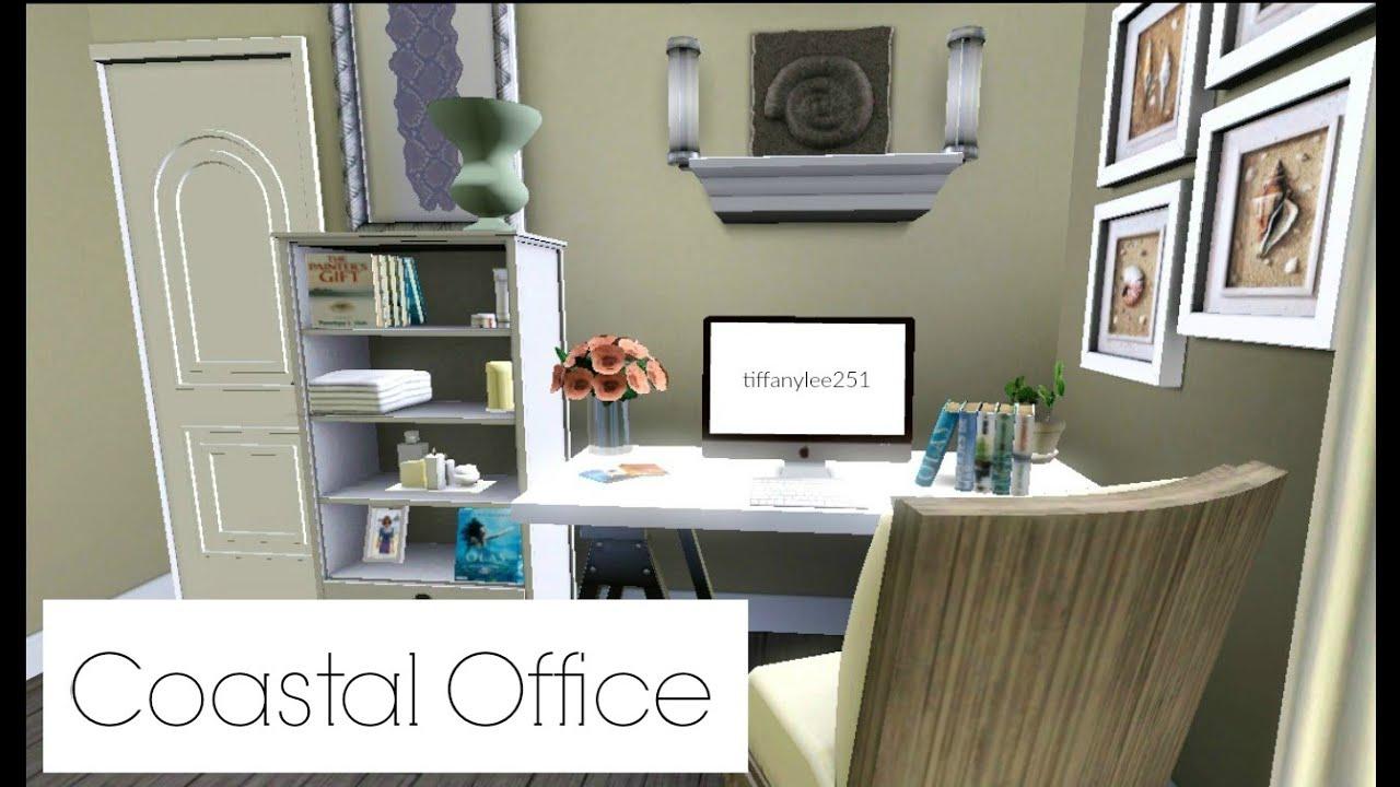 The Sims 3 Room Build  Coastal Office♡  YouTube ~ 164505_Sims 3 Dorm Room Ideas