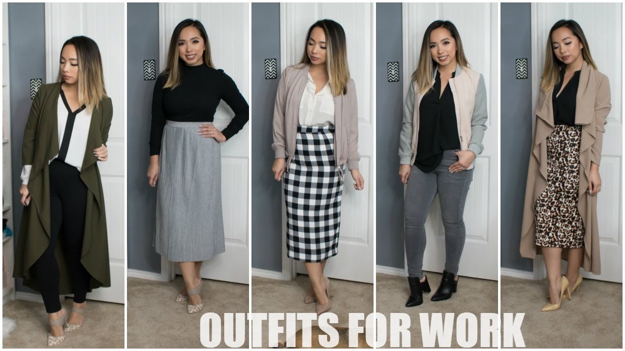 Outfits For Work Mules Midi Skirts Dusters Winter Spring 2017 Style