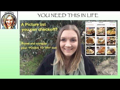 Picture Bucket list - My Japanese Food Checklist, Travel Checklist, Bucket list or groceries list?