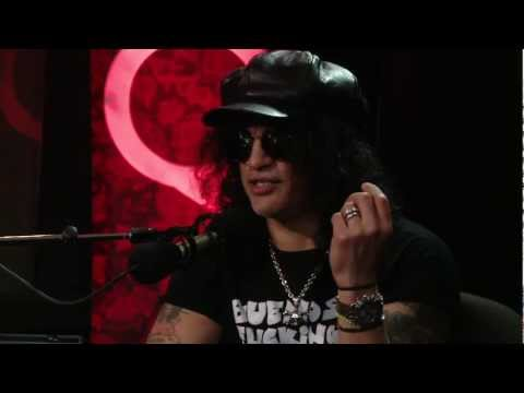 G N' R axeman Slash in Studio Q