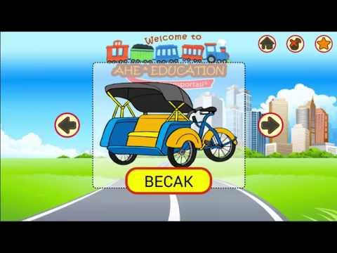 Mengenal kendaraan atau alat transportasi dan suaranya