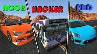 BeamNG Drive - NOOB vs PRO vs HACKER #1 (Crashes & Stunts)