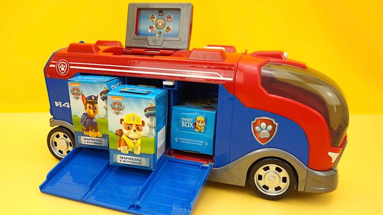 Щенячий Патруль сюрпризы и игрушки из мультика - YouTube