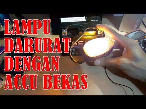 Membuat Emergency Lamp Sederhana, Lampu Darurat dengan Accu Bekas