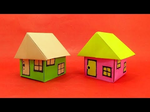 Simple & easy making of a beautiful paper house - How to make an Origami House - Origami Paper Home
