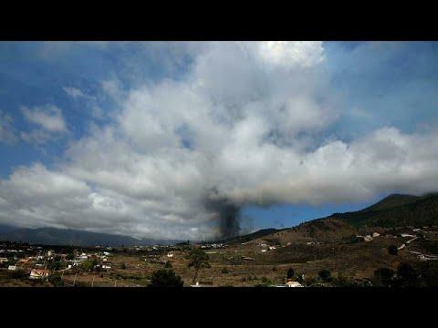 شاهد: بركان لا بالما يدفع السلطات الإسبانية إلى إجلاء 6 آلاف شخص من سكّان الجزيرة…