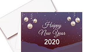 Happy New Year 2020 Amazing Simple Stylish and Beautiful Cards 2020 Wishing Welcome 2020